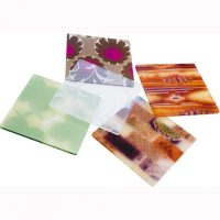 Single-mould plastic sheets with fabrics